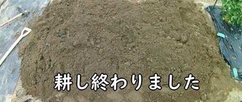 土を耕し終わりました